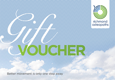 Gift voucher to redeem for osteopathy, sports massage, massage, physiotherapy or acupuncture